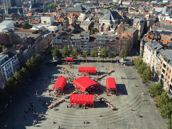 Peoples canopy Leuven, courtesy of People's Architecture Office